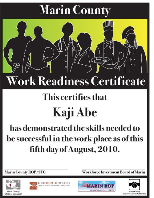 MCWRC Certificate