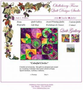 Olallaberry Farm Quilt Design Studio - Website