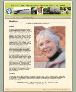 CSLP Petaluma Well-Being Center WordPress Website designed by Susan Searway Art & Design