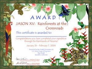 rainforest certificate