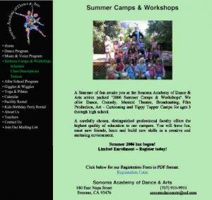 Sonoma Academy of Dance & Arts- Website