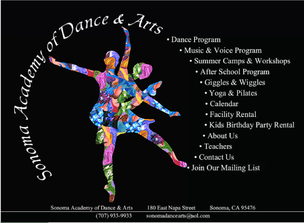 Sonoma Academy of Dance & Arts- Website