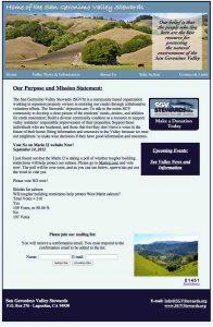 San Geronimo Valley Stewards Website designed by Susan Searway Art & Design