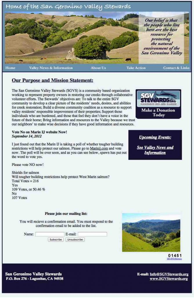 San Geronimo Valley Stewards Website