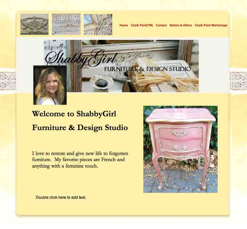 Shabby Girl Furniture & Design Studio Website