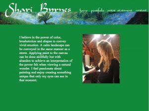 Shari Byrnes Bay Area Artist Website Designed by Susan Searway Art & Design