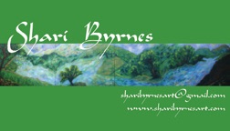 Shari Byrnes artist business card