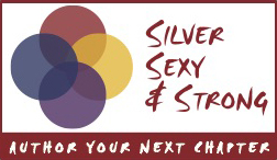 Silver Sexy Strong business card