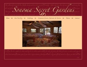 Sonoma Secret Gardens Website designed by Susan Searway Art & Design