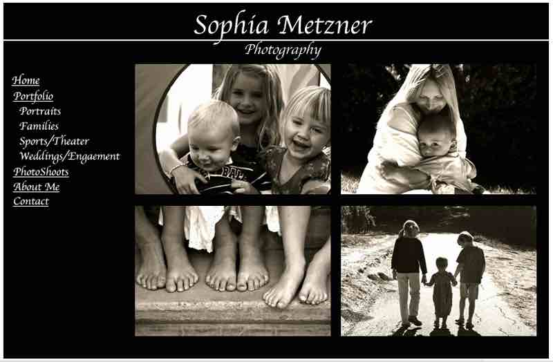 Sophia Metzner Photography Photographer Website