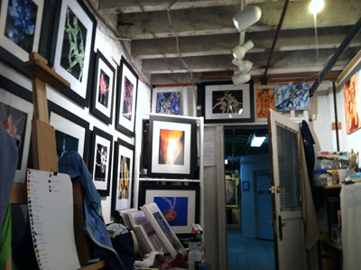 Susan Searway-Fertig art studio at Art Works Downtown - Studio #18 - Lower Level