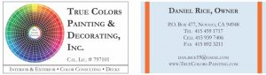 True Colors Painting & Decorating, Inc. Business Cards