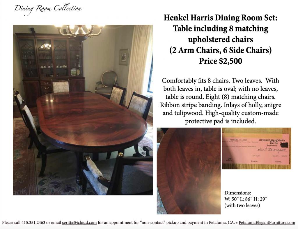 Petaluma Elegant Furniture |  Dinning Room Set | Furniture Description PDF