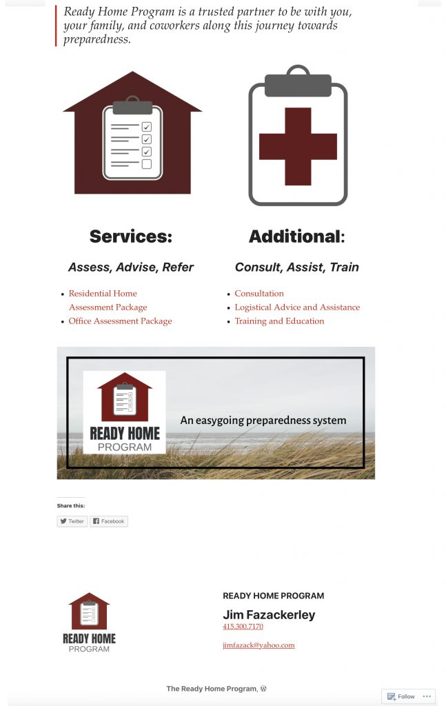 Ready Home Program Website Redesign WordPress Site
