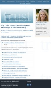 Marlene Getchell Website Articles Page designed by Susan Searway Art & Design