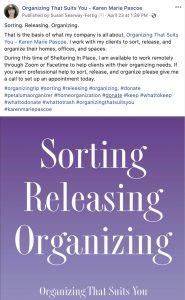 Organizing that Suits You Facebook Social Media Marketing Sorting Releasing Organizing