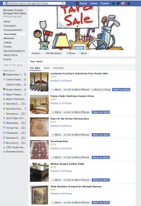 Social Media Product For Sale Posts | FaceBook Sonoma County Yard Sale