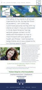 Cindy Mack Personal Trainer WordPress Website